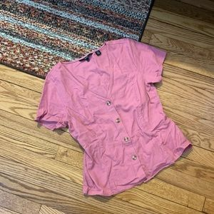 Vero Moda Pink Button Down Top